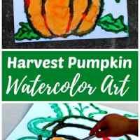 Harvest Pumpkin Watercolor Art Project