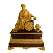 FINE & LARGE ANTIQUE LOUIS PHILIPPE CLOCK BY DENIERE