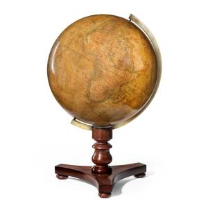 ANTIQUE TERRESTRIAL TABLE GLOBE BY NEWTON & SON