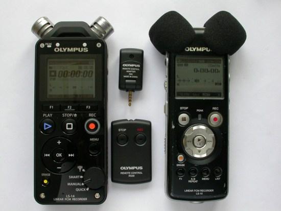 my Olympus recorders