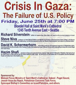 seattle conference on gaza crisis