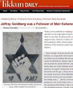 Tikkun Magazine Jeffrey Goldberg screenshot