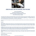 Crisis in Gaza, Seattle Community Meeting