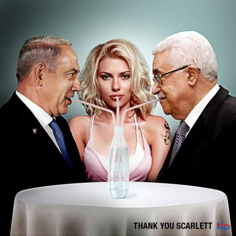 the israel project scarlett johansson ad