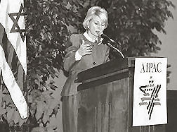 jane harman speaks at aipac event