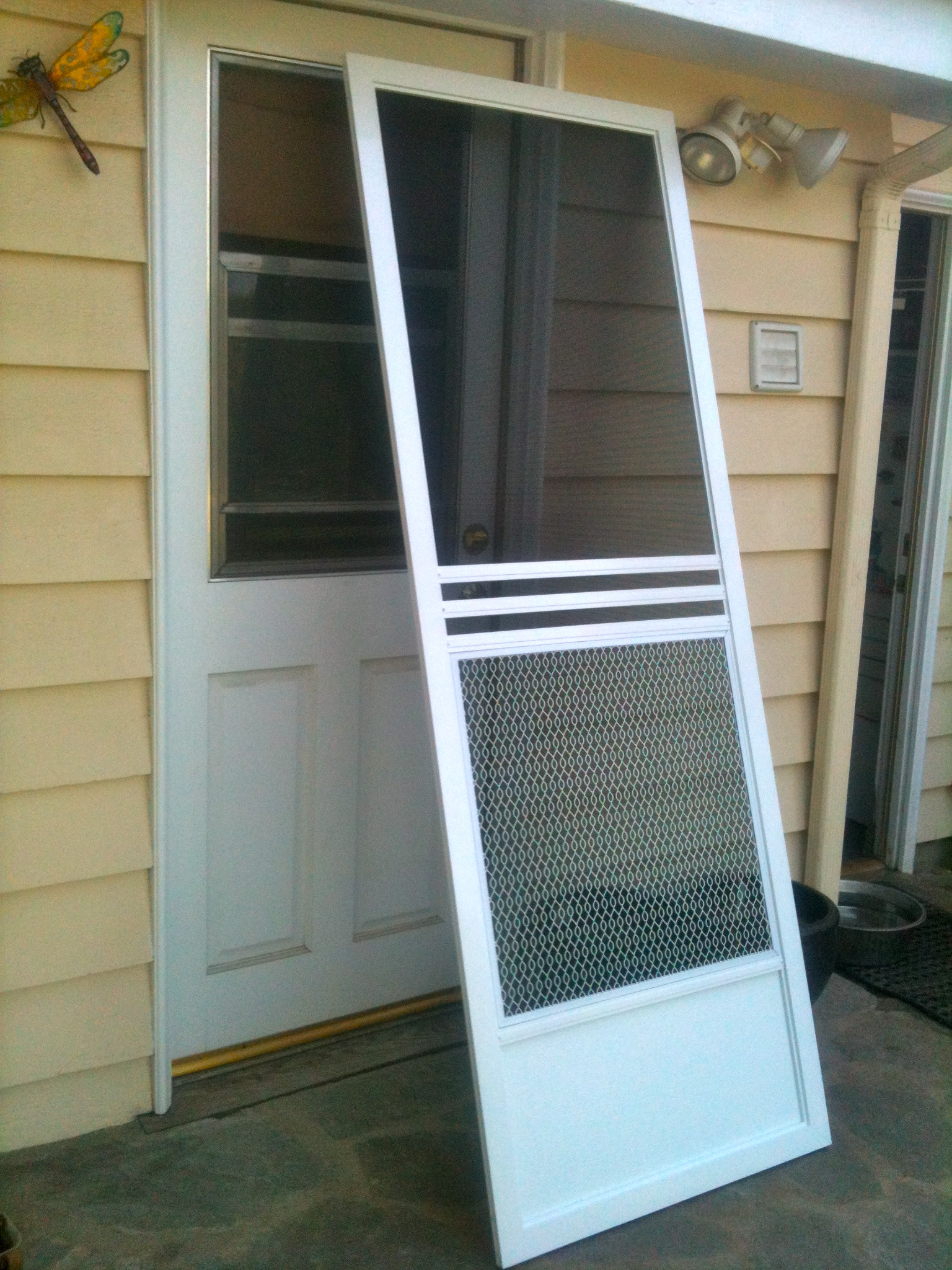 When the screen of our lives slam shut for Single swing patio door