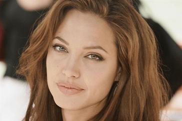 Angelina Jolie wears versace