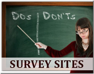 Survey Sites - The DOs and DON'Ts