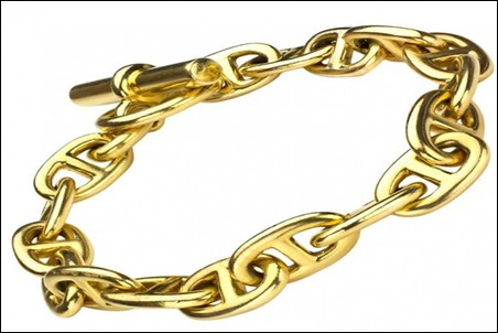 Hermes Chaine d' Ancre Gold Necklace Jewelry