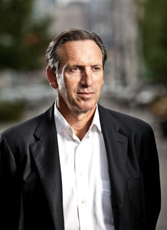 Portrait of Howard Schultz, CEO of Starbucks Coffee.Photograhed