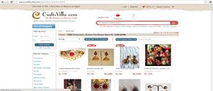 Craftsvilla.com Indian Jewelry website