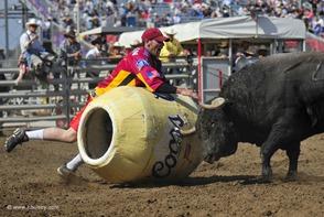 Rodeo Clown scariest job