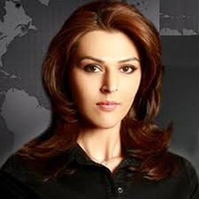 Sana Bucha popular Pakistani TV anchor