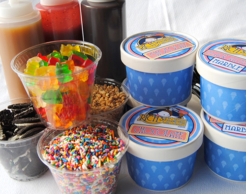 Rich's Ice Cream Catering Sundae Bar In-a-Box Ice Cream Social