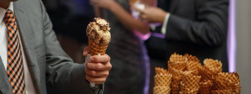 Rich's Ice cream Catering Wedding Reception