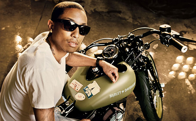 rides, cars, pharrell, williams, harley, davidson, harley-davidson