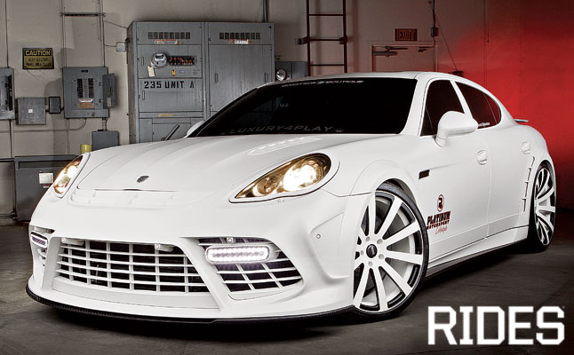 rides cars matte white platinum porsche panamera turbo luxury4play
