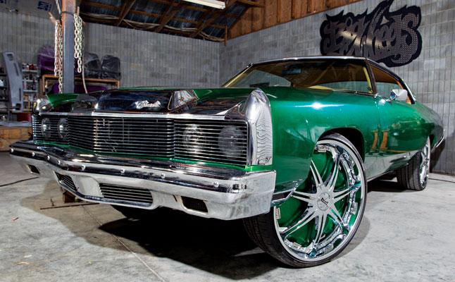 rides cars zach randolph green donk chevrolet chevy impala