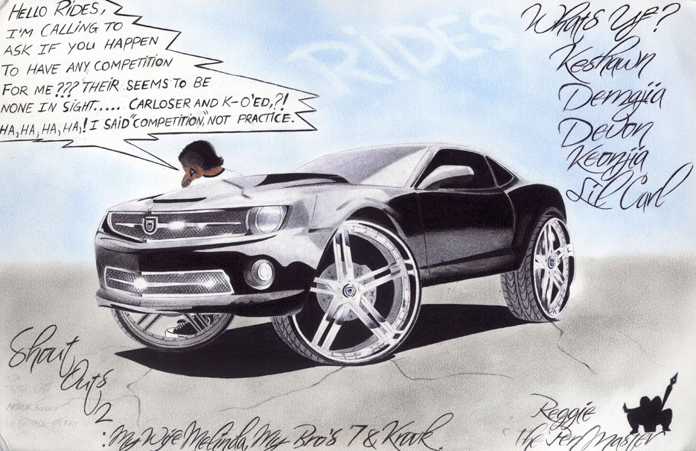 rides cars Reginald-Murphy,-Abilene-TX drawing art camaro
