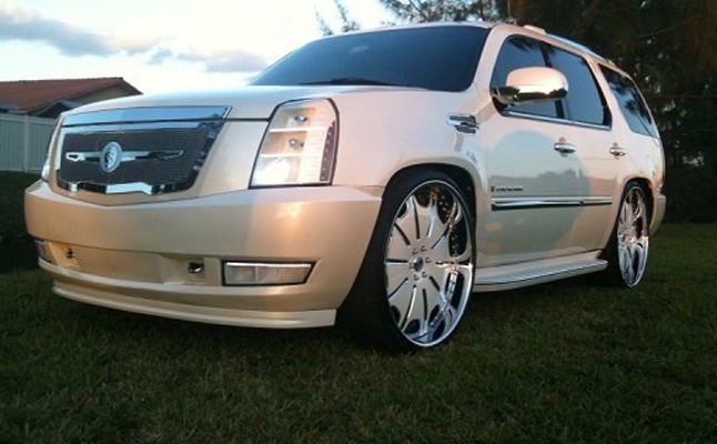 2007, Cadillac, Escalade, Strut, Custom, Rides
