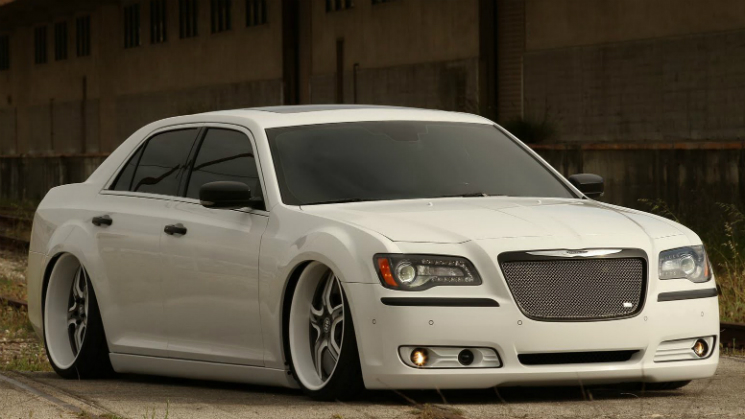 hydraulics rims grille white paint tinted swag