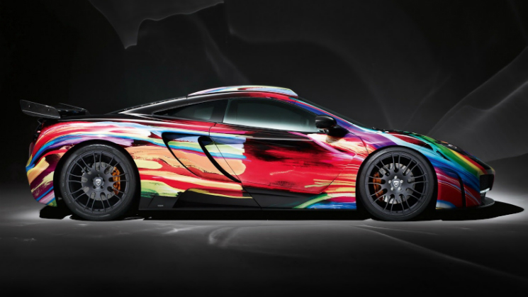 rides hamann motorsports mclaren mp4-12c paint psychedelic colors body kit $122,000