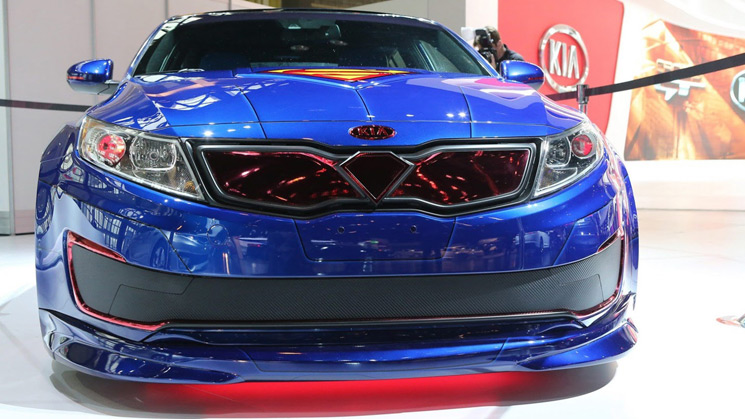 Kia, Optima, Hybrid, DC, Justice League, RIDES, Custom, Superman, Chicago Auto Show