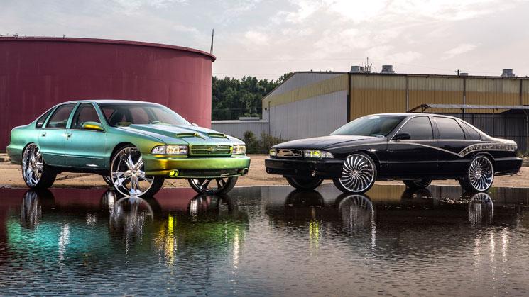 bubble chevy chevrolet impala ss forgiato dub mht wheels chameleon slammed rides magazine
