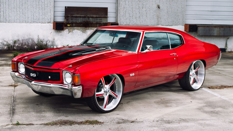 red chevelle asanti wheels rides magazine old school muscle car custom