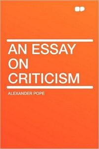 'An Essay on Criticism' by Alexander Pope (ISBN 1407643258)