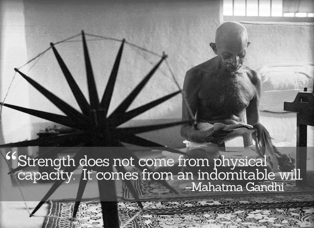 Inspirational Quotations by Mohandas Gandhi