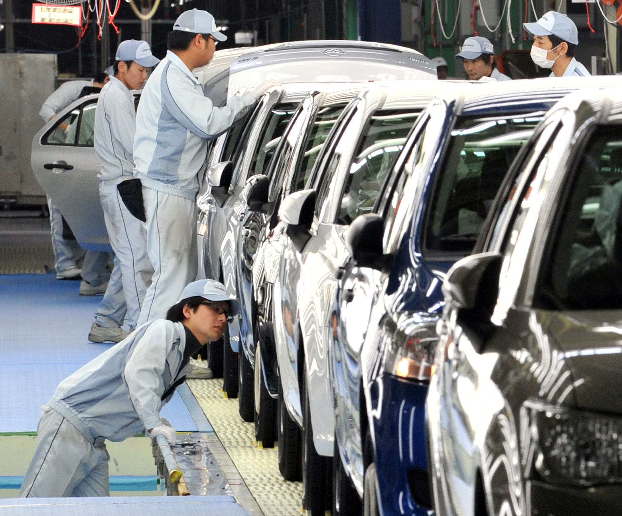 At Toyota, as cars roll off the assembly line, they go through a final inspection station staffed by astute visual and tactile inspectors.
