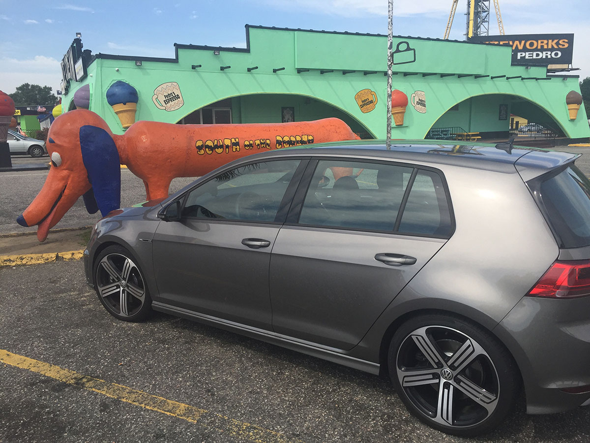 VW Golf R South of the Border