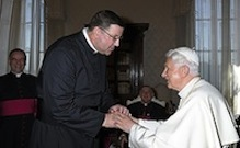 POPE BENEDICT GREETS BISHOP-DESIGNATE PARKES DURING 'AD LIMINA' VISITS TO VATICAN