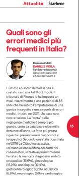 Daniele Viola intervista malasanità su Star Bene n 33 2017
