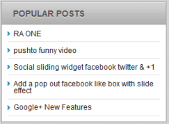 popular post widget for wordpress