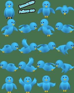 flying twitter birds