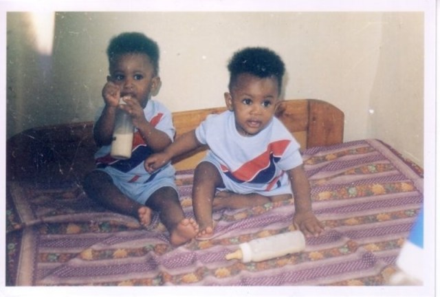 The Uwi twins as toddlers. Photo: Igihe