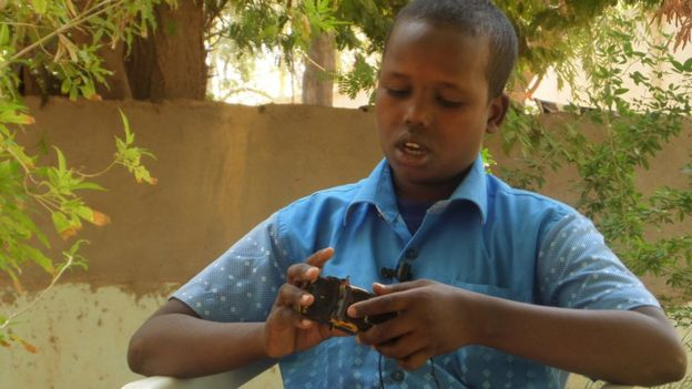 The president of Somalia's Puntland region wanted to see Guled's inventions