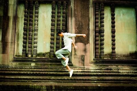 Angkor Wat Jump Dance