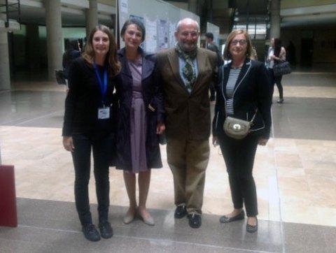 De izquierda a derecha, los Dres. Lara Manyes, Felicia Loghin, Eduardo de la Peña y Guillermina Font