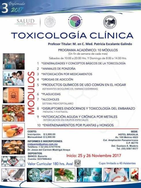 3er Diplomado de Toxicología Clínica