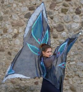 Costume da farfalla azzurro