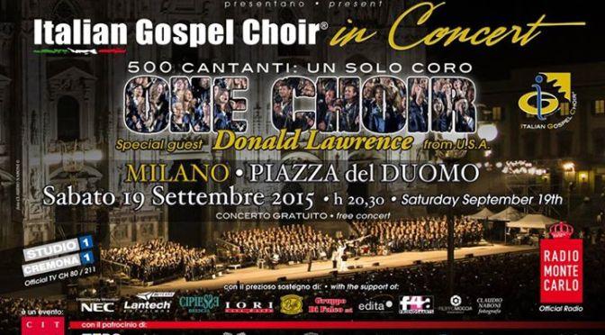 Italian Gospel Choir – 19 settembre 2015 – Milano