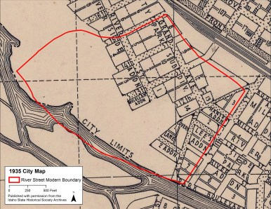 There was room, but development of the floodplain was slow
