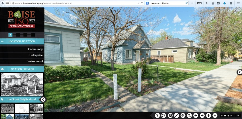 Lee Street on the Remnants of Boise website