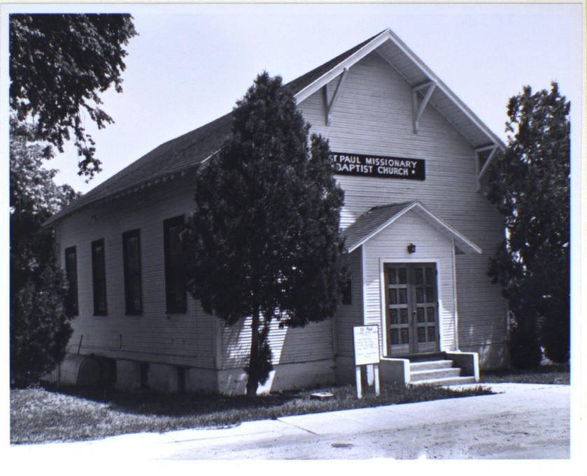 St. Paul Baptist Church in its original location at 128 Broadway Ave., n.d.