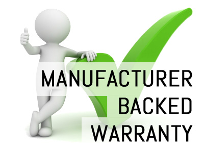 Manufaturer Backed Warranty