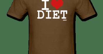 Marron-i-love-diet-T-shirts-(manches-courtes)