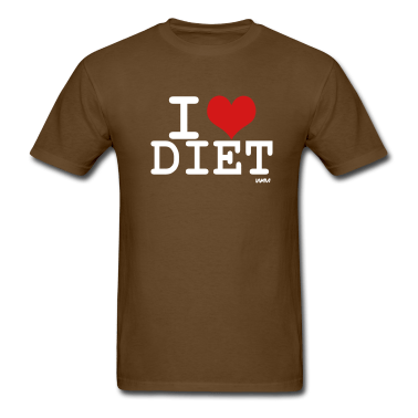 Marron-i-love-diet-T-shirts-(manches-courtes)